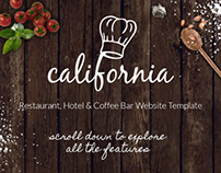 California - Restaurant Hotel Coffee Bar Site Template