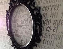 Caligrafía sobre muro