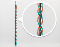 "Miniature Sculpture Pencil ""ADN"" #1"