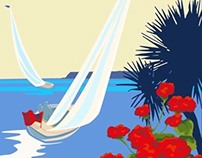 SEASIDE POSTERS www.beckybettesworth.co.uk