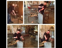 Glassblowing process images
