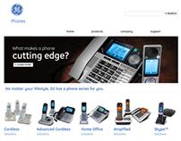 GE - Phone Website (Gephones.com) & Packaging