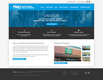 PMF 'Professional Metal Finishers' Website Design