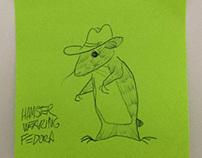 Hamster Wearing Fedora