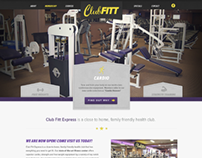 Club Fitt Website Design