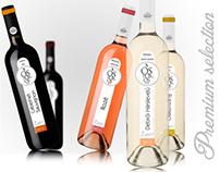 Ostoros wine label design