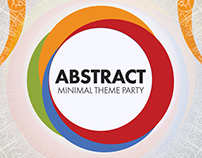 Abstract Minimal Theme Party Flyer