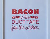 Bacon Kitchen Print