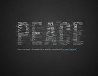 Typography Peace Poster