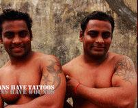 Tattoos Vs. Wounds. Fishermen of Palk Straits.