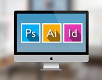 Adobe Creative Suite Flat Design