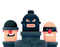 Flat Design Characters Illustration in Illustrator
