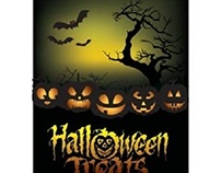 Free vector Halloween Treats template design illustrati