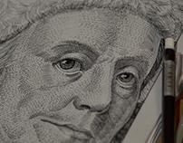 Benjamin Franclin tribute drawing