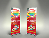 Cake Signage Roll Up Banner Template Vol.3
