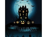 Free vector of happy halloween day haunted house