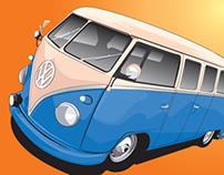 VW Camper Van illustration