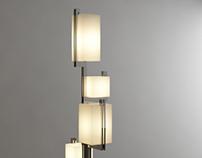 """""""Zenobia"""" metal floor lamp"""