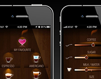 Coffeemachine management application for iPhone