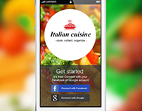 Italian Cuisine application UI