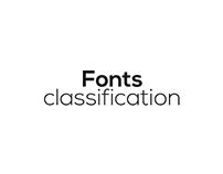 Fonts | classification