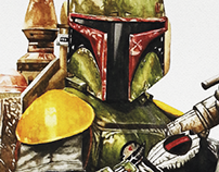 BOBA FETT (Watercolor)