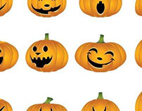 Halloween Vector Graphics beautiful pumpkin set