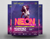 Neon Party Poster/Flyer Template