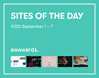 Sites of the Day AWWWARDS 2020 September 1 – 7