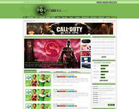 fragxl gaming community website and logo design