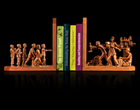 """Bookends"" activation for Kinokuniya. JWT, 2013."