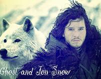 Composição | Jon Snow & Ghost | Games of Thrones