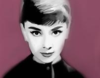 Audrey Hepburn Portrait -Photoshop