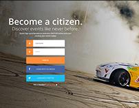Landing page - Web/UI