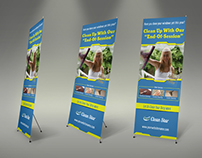 Cleaning Services Signage Roll Up Banner Template