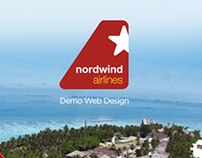 NordWind Airlines Web Design