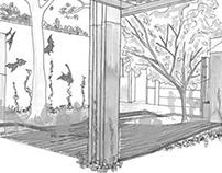 Landscape concept for Monash Zoology Department