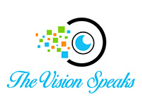THE VISION SPEAKS MINIMAL BUSINESS LOGO COMPLETED PROJE