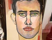 mixed media paintings/drawings