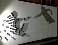 Shadow Art - Michelangelo's painting 'Creation of Adam'