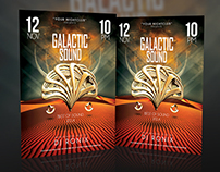 GALACTIC SOUND FLYER TEMPLATE