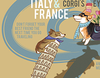 Corgis love travel