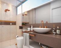 SFN Arquitetura - Banheiro da Suíte Hóspede (Casa B220)