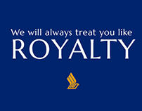 'Treat You Like Royalty' - Mock SIA Ad Campaign