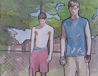 """Summer With Tay and Nate Before He left"" - Watercolor"