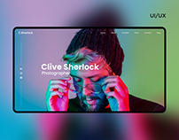 Website for the photographer | UI/UX design