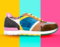 COLOR TEXTURE SPORT sneakers