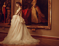 Wedding dress in museum