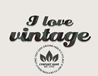 Vintage Badges Set Volume One