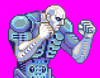 Prometheus Engineer fighting sprite - animated stance